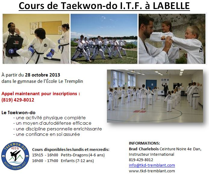 TKD in Labelle Octobre 2013